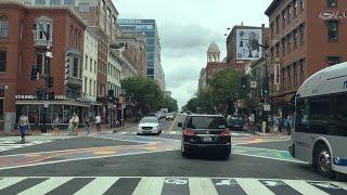 Driving Downtown - Washington DC Convention Street 4K - USA