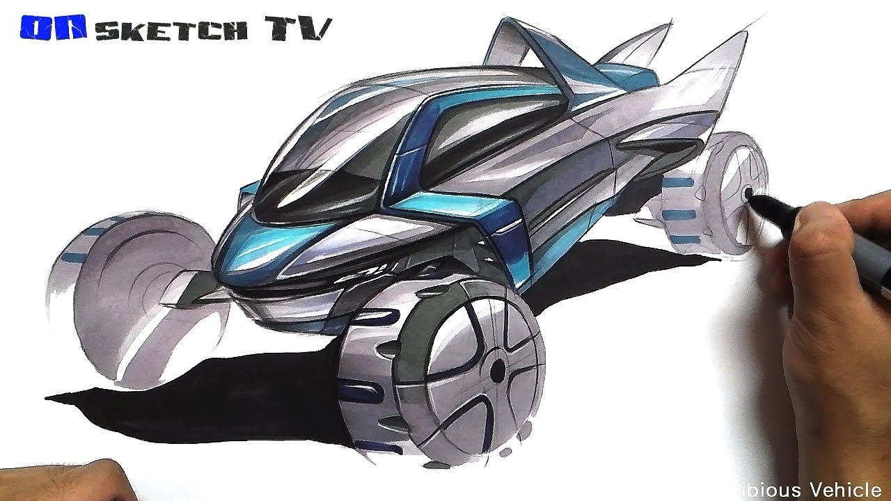 ������ tv car sketch quotfuturistic amphibious vehicle sketch