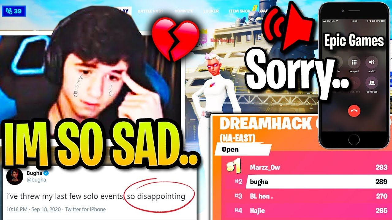 Bugha *CRIES* Tears of RAGE after CHOKING 1st Place then TROLLED by Epic Games RIGHT AFTER!