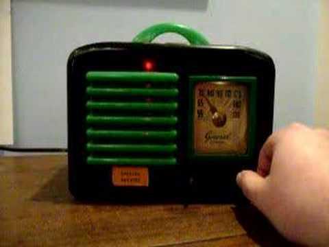 General Television Vintage Tube Radio