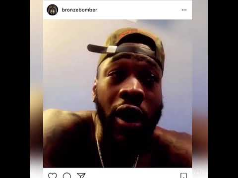 Deontay Wilder Talking To Joshua Like He's A Kid - Do You Accept My Offer Yes Or No?
