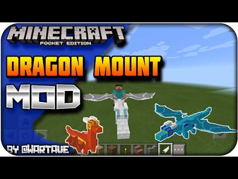 Download/Descarga - Dragon Mount V3 - Mod Minecraft Pocket Edition 0.14.1/0.14.2/0.14.3/0.15.0
