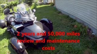 Can-am spyder 50,000 miles  maintenance cost