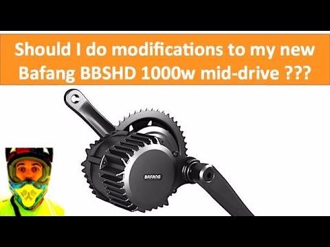 Should I do modifications to my new Bafang BBSHD 1000w mid drive? • DIY  Electric Bike 8fun BBS02 48v