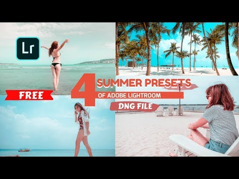 Free Summer Preset+DNG FILE |  Light Room Tutorial  Summer Soft Color