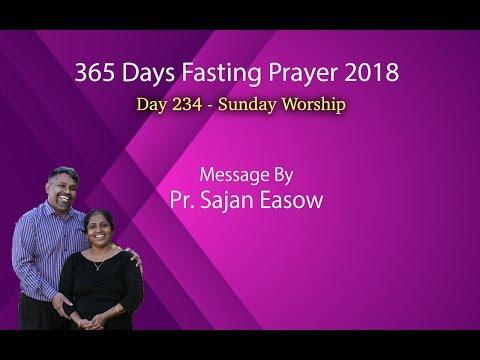Hope In Jesus | Pr. Sajan Easow  | Day -234 | Sunday Service| 22.04.2018