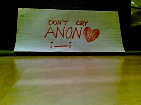 Don't Cry Anon - Karaoke version
