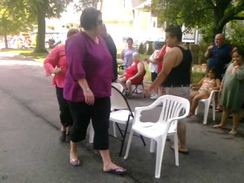 Chicago block party adult musical chairs