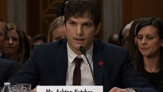 Ashton Kutcher Makes Plea on Hill to End Slavery