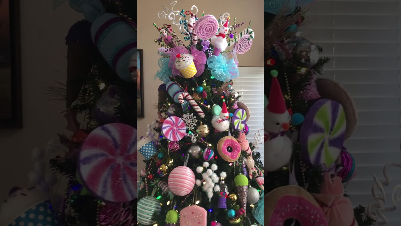 candyland christmas tree 2017