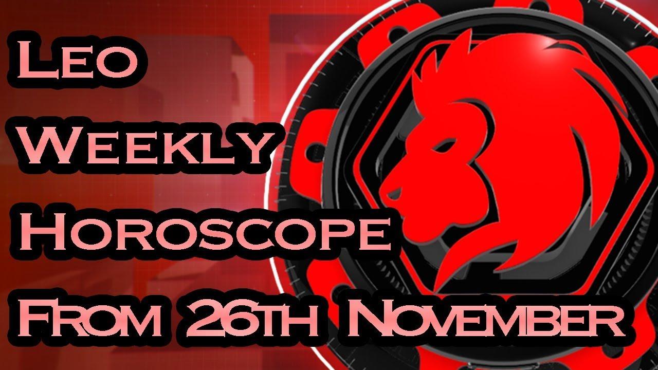 leo weekly horoscope 2 november