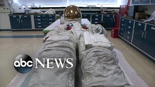 Neil Armstrong's spacesuit goes on display for 1st time in more than a decade