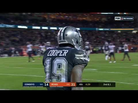 Cool TD throw by Dak Prescott to Amari Cooper vs the Bears