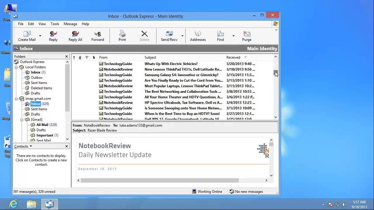 download gratis outlook express per windows 7