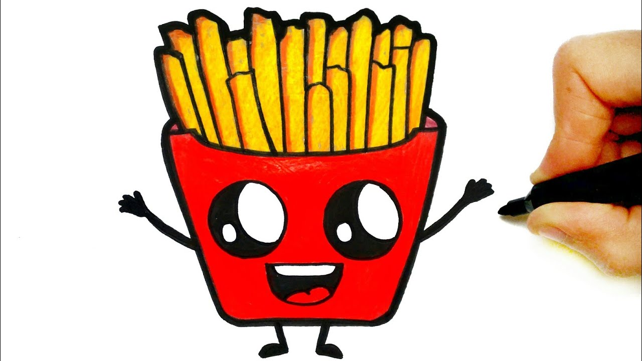 How To Draw French Fries Easy Step By Step Youtube