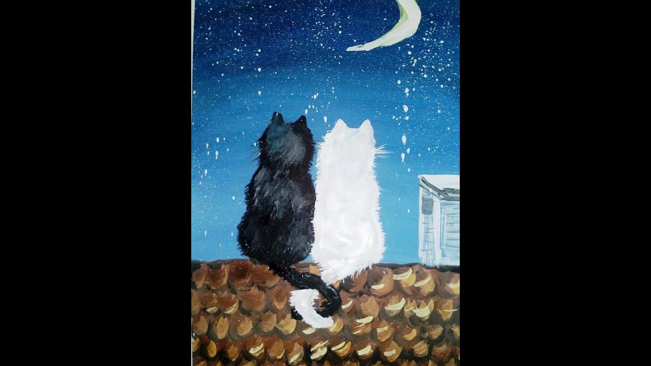 Коты на крышах картины