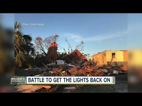 Duke Energy Crews Racing To Restore Power In Florida Panhandle Following Hurricane Michael