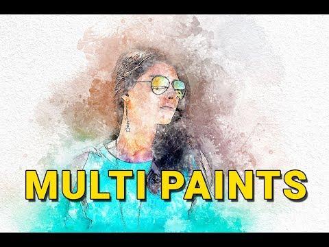 Multi paints Photoshop Action Tutorial