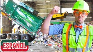 Blippi Explora el Camión de Basura | Aprende Sobre el Reciclaje | Videos Educativos para Niños