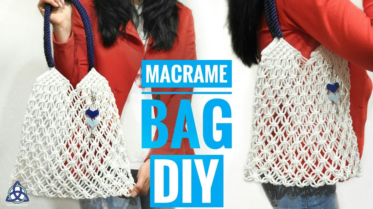 Macrame Bag Tutorial Market Diy