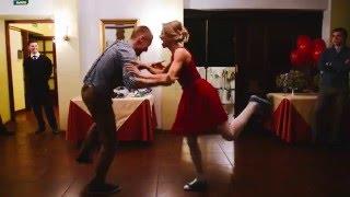 Активный свадебный танец / Даша и Сергей / Элементы линди-хоп, чарльстон, рок-н-ролл и тдтп