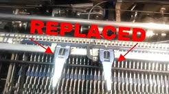 IBM Vintage Selectric Typewriter Plastic Margin Arms Repaired Replaced with Metal Sliders