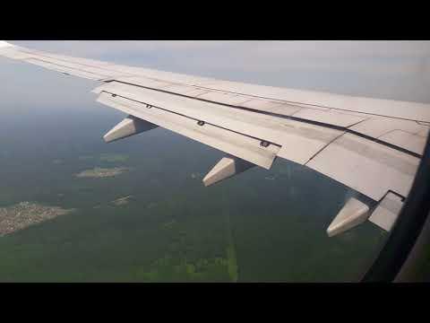 Boeing 737-800 NordStar  заход на посадку и посадка в Емельяново (Красноярск) KJA