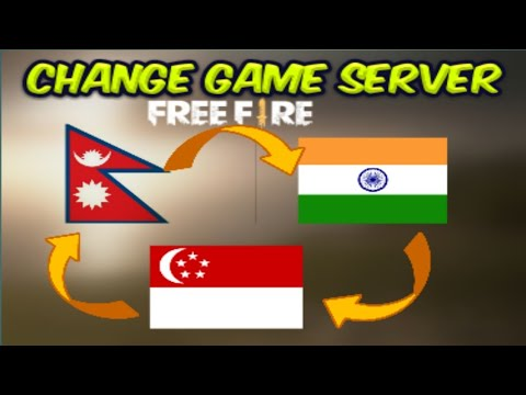 How To Change Server In Free Fire ||Indian Into Singapore Server||Free Fire||