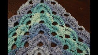 Вяжем крючком узор для шали