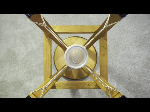 Rubber-band barstool slingshot cannon