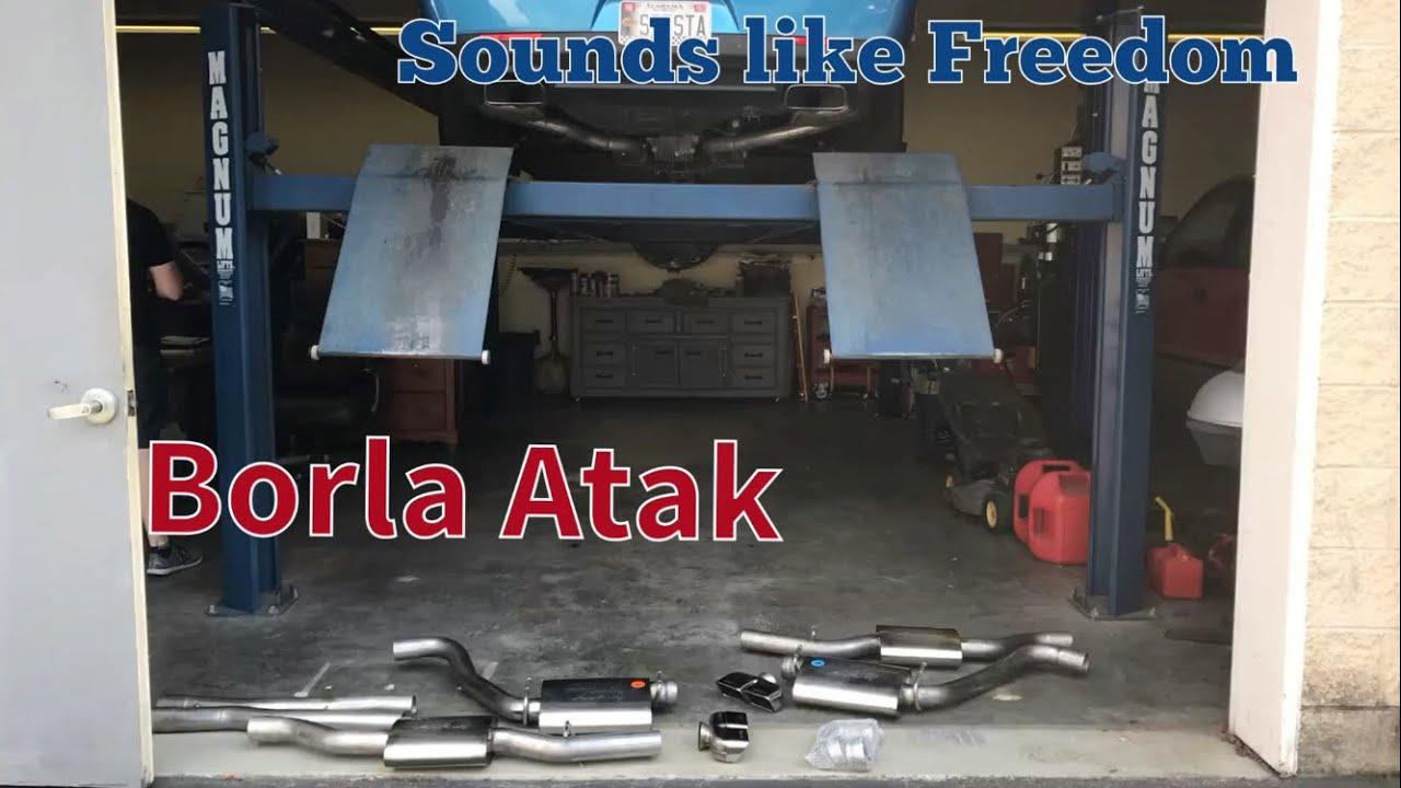 2016 challenger r t borla atak cat back exhaust install sound clips