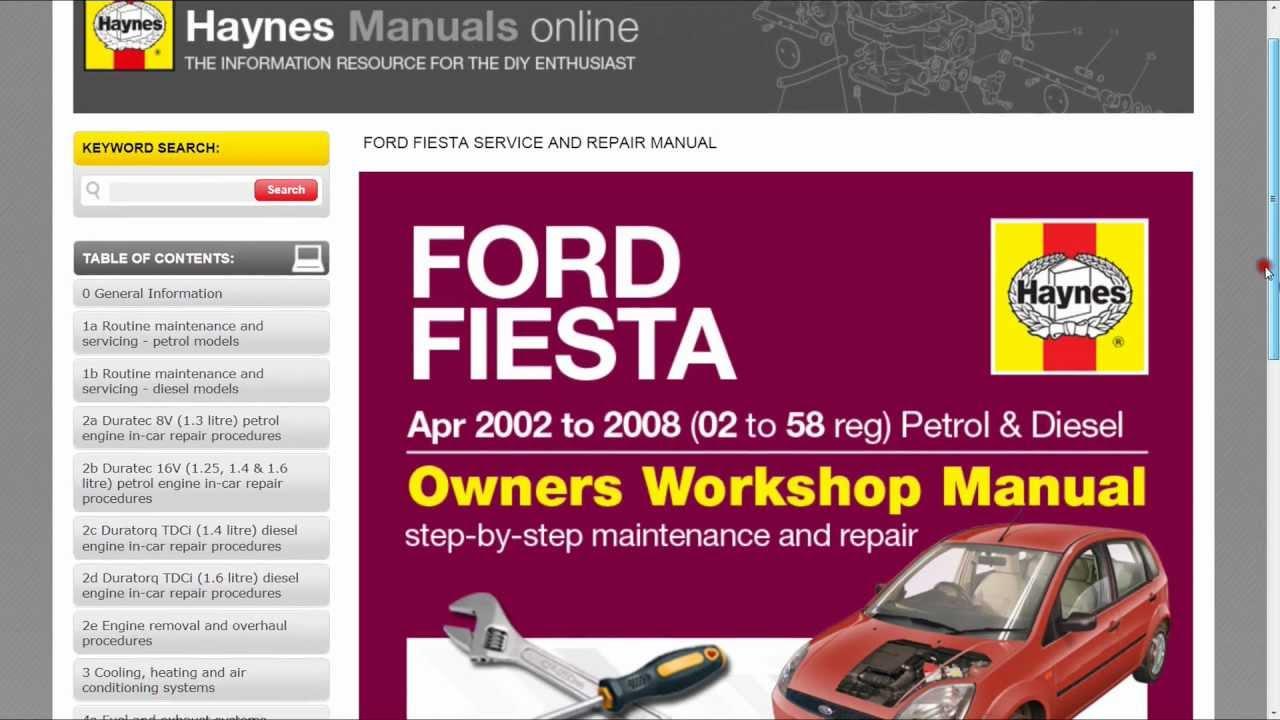 haynes manual online pdf