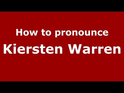How to pronounce Kiersten Warren (American English/US)  - PronounceNames.com