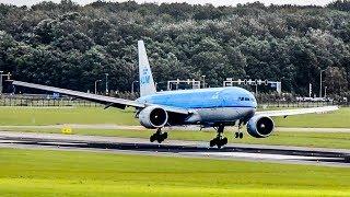 SPOTTING: Heavy wind landings Schiphol [A380, B747, B777, A330]