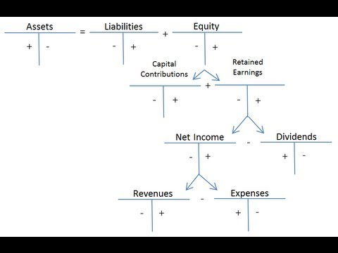 Debits and Credits and the Expanded Accounting Equation - YouTube