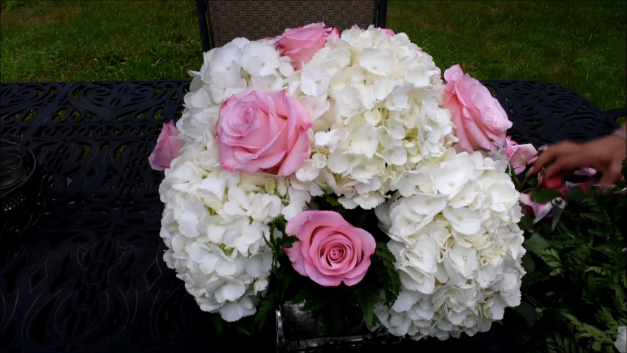 How To Make A Simple Flower Arrangement With Hydrangeas Roseland