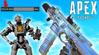 I changed my FOV to Max and this is what its like (Apex Legends)