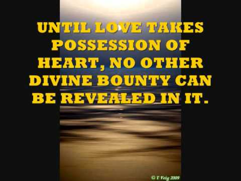 Love Quotes From The Baha'i Faith YouTube Stunning Love And Faith Quotes