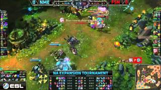 NME (Cackgod Maokai) VS Fusion (Maknoon Poppy) Game 1 Highlights - 2015 NA LCS Expansion Tournament
