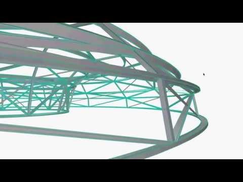 Archicad Spaceframe Walkthrough