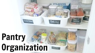 Organize With Me! Pantry Organization - Tips For An Organized Pantry