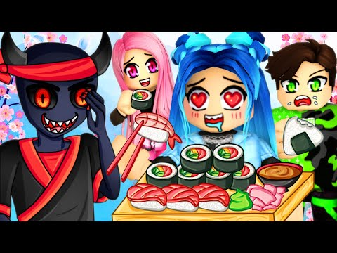 What are they hiding...? Roblox Sushi Buffet Story!