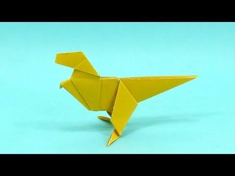 How To Make an Easy Origami Dinosaur | DIY Dinosaur Paper | Easy Origami Craft Ideas