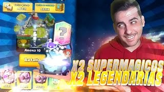 OPENING CHESTS SUPERMAGICOS & MAGICAL! | Clash Royale | Rubinho vlc