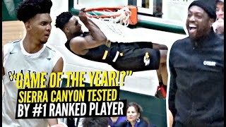 Sierra Canyon TESTED By #1 Ranked Player w/ Dwyane Wade Watching in Championship Game!!