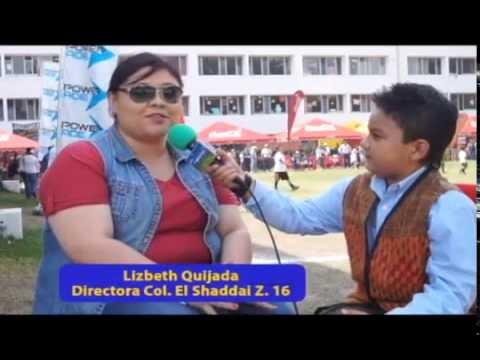 Diego Gómez El Peque Reportero en Colegio El Shaddai Z 16