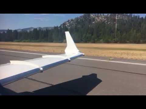Learjet 60 Takeoff from Lake Tahoe Airport