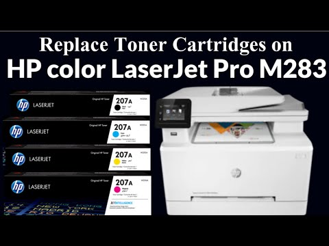 Replace Toner Cartridges on HP Pro M283 Color LaserJet Printer