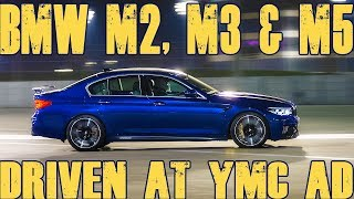 BMW M cars at Yas Marina Circuit - M2 Competition, M3 & M5