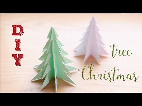 Cмотреть видео онлайн D.I.Y cristmas tree. Елка из бумаги. Скоро Новый Год